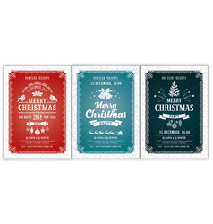 christmas party layouts set vector image vector image