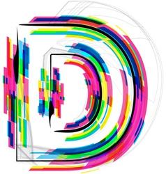 Colorful Font Letter D vector image vector image