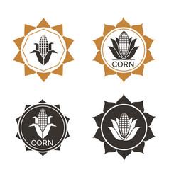 corn label vector image