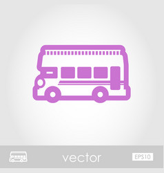 Double decker open top sightseeing city bus icon vector