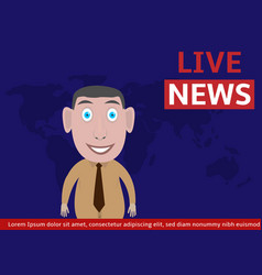 live news vector image vector image