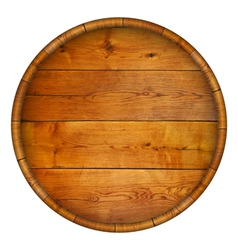 Round wooden barrel background vector image vector image