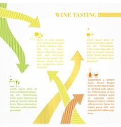 Vine infographic design vector image vector image