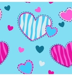 Cute girlish seamless pattern vector image vector image
