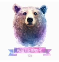 set of watercolor Cute bear vector image