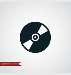 cd disc icon simple vector image vector image