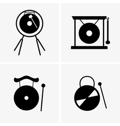 Gong vector image vector image