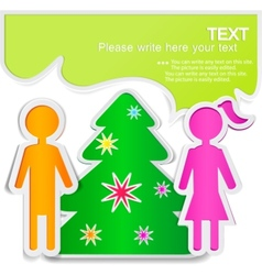 male talking with female new year vector image