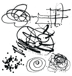 Splatter Black Ink Background collection set vector image vector image