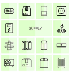 14 supply icons vector