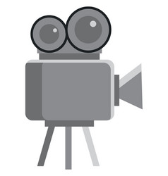a video camera placed in tripod used for cinema vector image