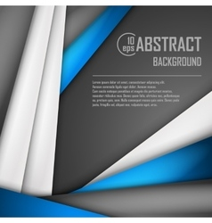 Abstract background of blue white and black vector image