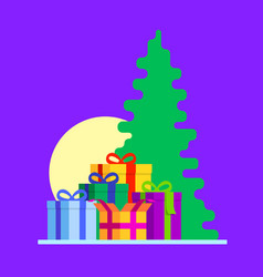 abstract gift boxes composition with christmas vector image