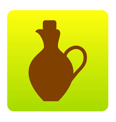 amphora sign brown icon at vector image