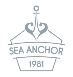 anchor logo simple gray style vector image