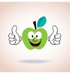 apple mascot cartoon character vector image