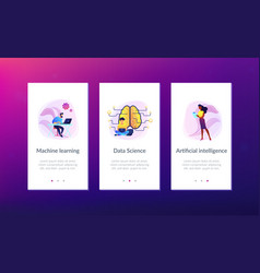 artificial intelligence app interface template vector image