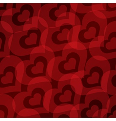 Background with hearts seamless pattern vector image