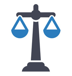 balance scale business icon vector image