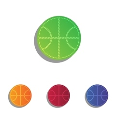 Basketball ball sign Colorfull vector image vector image