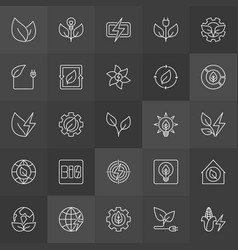 Biomass energy icons vector