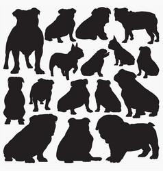 bulldog silhouettes vector image
