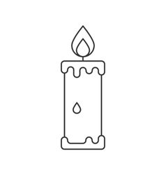 Candle icon suitable for info graphics websites vector