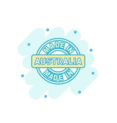 Cartoon colored made in australia icon in comic vector