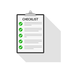checklist isolated vector image