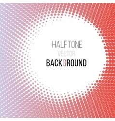color gradient dot halftone background vector image