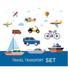 digital blue red travel transport vector image
