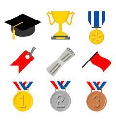 Education graduate bachelor certificate vector