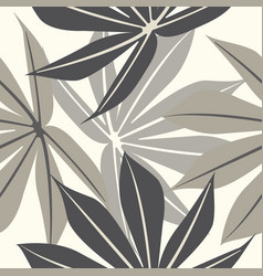 elegant endless pattern with tropical leaves vector image