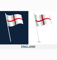england flag waving national flag england vector image