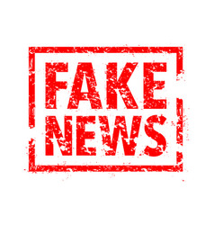 Fake news rubber stamp vector