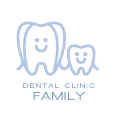 Family dental clinic logo symbol vector