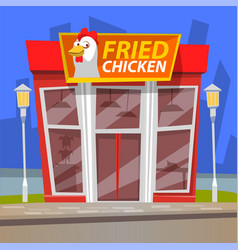fast food restaurant urban cafe chicken vector image