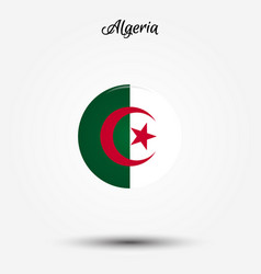 flag of algeria icon vector image