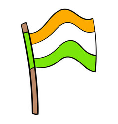 Flag of india icon cartoon vector