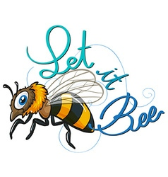 Flying bee vector image