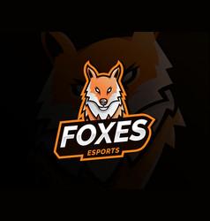 fox logo mascot sport vector image