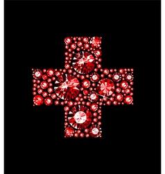Gem Red Cross vector image