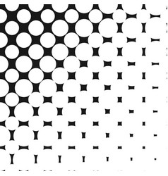 geometric halftone pattern with circles dots vector image