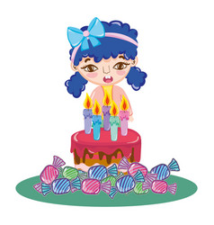 Girl birthday party vector