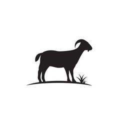 goat logo template icon vector image