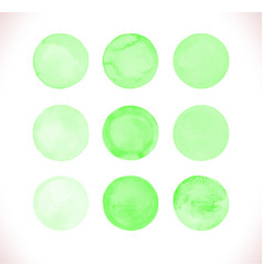 Green watercolor circle vector