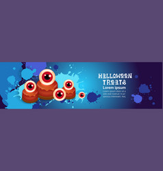 halloween treats banner happy holiday concept vector image