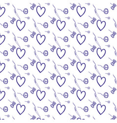 hand drawn sewn doodles pattern vector image