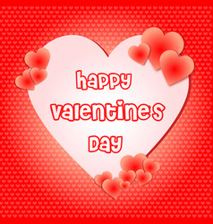 happy valentines day in hearts shape bold font vector image