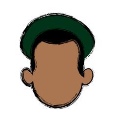 Head man character profile people design vector